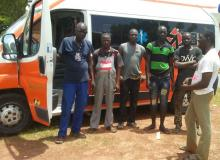 Missionland gives away an ambulance to the Ouagadugou hospital in Burkina Faso