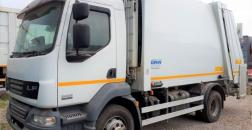 DAF LF 55 MSW compactor with bin turner